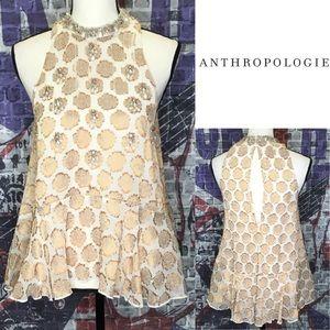 Nwts Anthropologie metallic Top